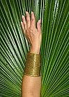 Naga, Antique Brass Etched Cuff