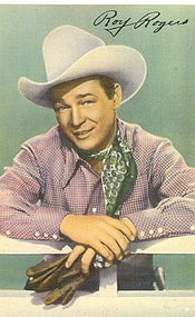 Roy Rogers, Linen Postcard, So Rare