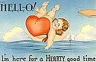 Linen Postcard, HELL-O!