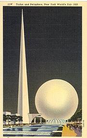 Linen Postcard, 1939 N.Y. World's Fair