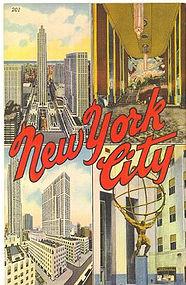 Linen Postcard, New York 1943