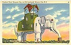 Tichnor Linen Postcard, Elephant Hotel