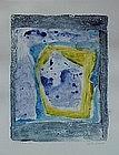 "Emily Mead, Monoprint ""Cenote II"""
