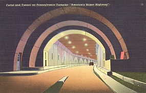 Postcard, Pennsylvania Turnpike, Tichnor
