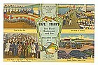 Capt. Starn's  Atlantic City  Linen Postcard