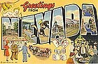 Postcard, Greetings from Nevada, 1941,CT