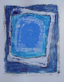 "Emily Mead Monoprint ""Cenote IV"""