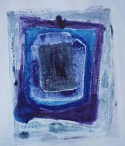 "Emily Mead  Monoprint ""Levitate II"""
