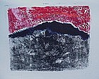 "Emily Mead ""Los Alamos Fire"" Monoprint"