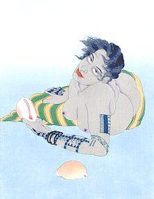 Paul Jacoulet, Femme Tatouee, 1935
