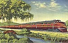 Linen Postcard, Aboard The Rebel, Curt Teich