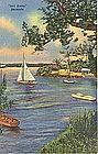 """""""Salt Kettle"""" Bermuda, Linen Postcard"""