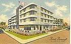 """Hotel Bancroft"" Vintage Linen Postcard"