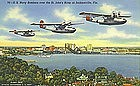 """U.S. Navy Bombers over the St. John's RIver"""