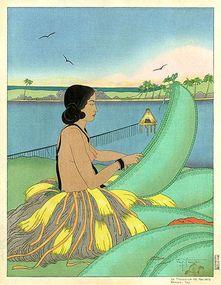 Paul Jacoulet, The Basket Weaver, 1948