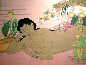 Dans La Nature, Paul Jacoulet 1949