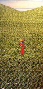 "Gerard Valcin, Haitian Master, ""Pineapples"""