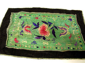 Vintage Chinese Silk Embroidered Textile