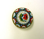 Antique Micro Mosaic Flower Brooch
