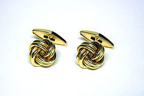 18K Gold Love Knot Cufflinks