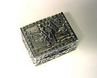 Vintage Silver Pill Box Italy