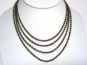 An Antique Victorian Fancy Gold Chain