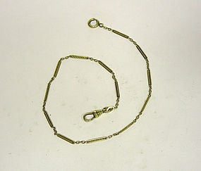 Antique Gold Filled Watch Chain