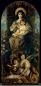 19th C Continental School, Madonna With Child