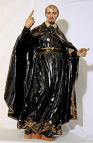 Early 19th C Figure Of St. Aloysius 