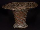19th Century Japanese Woven Copper Ikebana Basket