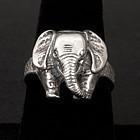 Vintage Sterling Silver Elephant Ring