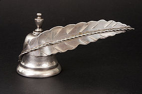 Vintage Sterling Silver Candle Snuffer Feather Handle