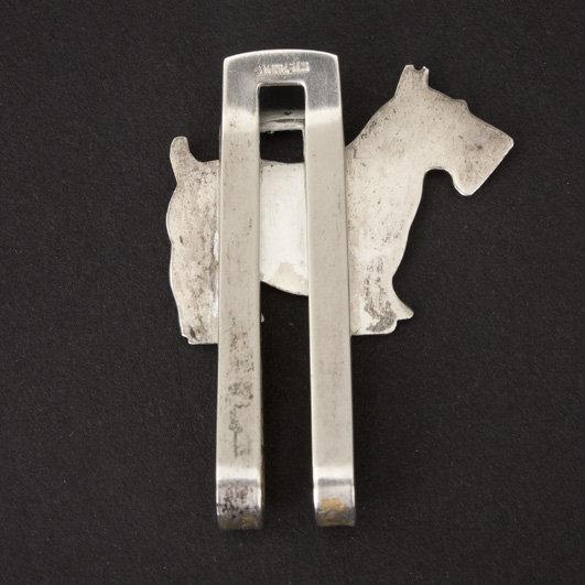 Vintage Sterling Silver Scottish Terrier Money Clip