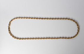 Vintage Tiffany & Co 14K Yellow Gold Rope Chain