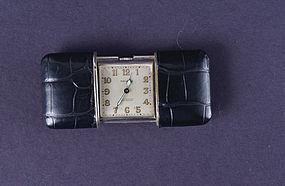 Art Deco Silver Movado Ermeto Pocket Watch