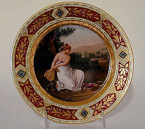 A Pair Of Vienna Cabinet Plates
