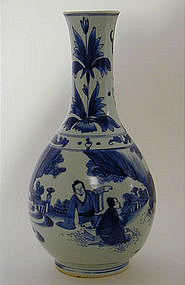 Chinese Export Ming-Style Bottle  Vase