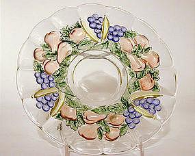 Set Of Banana Fruits Pattern Plates By Indiana Glass