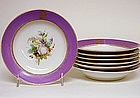 Set of Seven Small Old Paris Plates