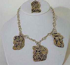 Vintage Handcrafted Sterling Silver Necklace