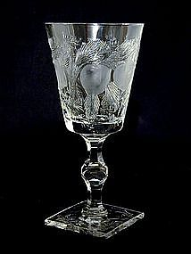 "Hawkes ""Gravic Fruit"" Cut Crystal Water 