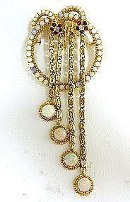 A 14k Gold, Opal, Diamond And Garnet 
