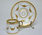 Hand Painted Dresden Demitasse Cup And  saucer, C1907