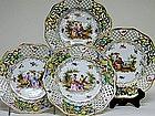 Set Of Twelve Dresden Dessert Plates