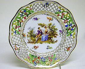 Six Schumann Dresden Style Plates, Ca1920
