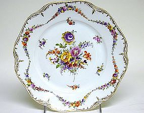 A Pair of Dresden Flower Plates, Circa 1920s