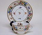 12 Schumann Dresden Flower Cups and  Saucers, C1920