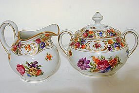 Schumann Empress Creamer and Sugar, ca. 