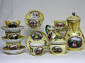 Dresden Porcelain Coffee Set,  Helena Wolfson,  C1890