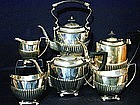 English Silverplate Tea and Coffee Service, 20th C